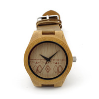 Wholesale Bamboo Stainless Japan - Hot Sale Brand Wood Watch Bamboo Watch with Genuine Leader Band Luxury Watches Wooden Wristwatch Japan Quartz Movement 2035 Idea Wood Gifts