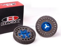 Wholesale Engine Timing - BLOX Aluminum Upgrade Engine Cam Gear pulley 1Pair for Mazda MX5 B6 BP NB6 8 Blue TK-CGMX5-BL