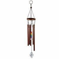 Medium Rainbow Chakra Maker Chime Wind, 50mm Clear Crystal Suncatcher Chandeliers Drop Parts - Collezione Eastern Energies