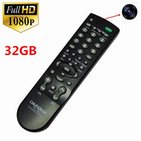 Wholesale Remote Controller Dvr - 32GB Full HD 1080P Mini camera Latest TV controller camera monitor Hidden Camera mini DVR TV Remote Controller Spy Camera Remote Control