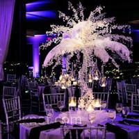 Wholesale Cheap White Ostrich Feathers - Free Shipping Cheap White Ostrich Feather plume 100 pcs 14-16inch(35-40cm) wedding Centerpiece wedding decor party event decor festive decor