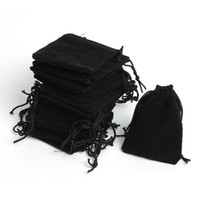 Wholesale Velvet Retail - Free Shipping 200pcs Lot 5*7cm Black Retail Jewelry Velvet Gift Packaging Bags Jewelry Pouches, Party Gift Bags Hot Sale
