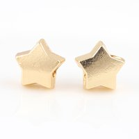 18K Gold Alloy Beads Star Shap DIY Big Hole Beads Spacer Murano Bead Charm Fit для Pandora Bracelet Charms 48