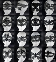 Wholesale venetian masquerade - 20pcs Sexy Lovely Lace Halloween masquerade masks Party Masks Venetian Party Half Face Mask For Christmas