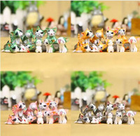 Wholesale Cat House Diy - 5 Colors Cute Cat Animal Miniature Fairy Garden Home Houses Decoration Mini Craft Micro Landscaping Decor Diy Accessories