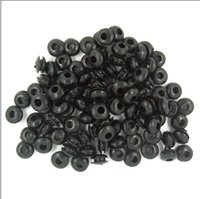 Wholesale Grommet Tattoo Black - Free Shipping High Quality Black Rubber Nipple Grommets Tattoo Accessory for Tattoo Supply Tattoo & Body Art