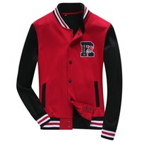 Wholesale Hoody Clothing Winter - New style mens baseball jackets for men 2015 winter jackets sports jackets baseball jerseys for men baseball hoody boys clothes SL5705