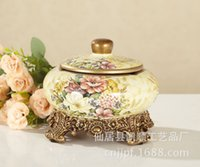 Great Ceramics Factory Direct Supply Of New European Style Garden Painted Ceramic  Ashtray DV62807 0123