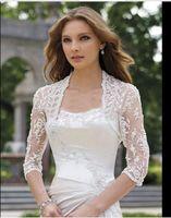 Wholesale Elegant Jackets For Wedding - 2016 Elegant shawl lace shrug lace wraps bolero wedding Bridal Jacket bolero jackets bridal bolero lace for wedding dresses