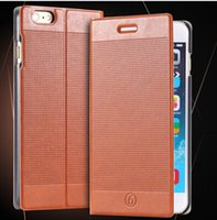Wholesale Plaid Iphone Case - Luxury ultra thin Plaid wallet Leather Case for iPhone 7 6S 6 Plus galaxy S6 S6 Edge note 4 Stand Card Slot Retro Vintage Cell phone Cover