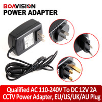 Wholesale Uk Cctv Camera - Qualified AC 110-240V To DC 12V 2A Power Supply Adapter For CCTV Camera System,EU US UK AU Plug