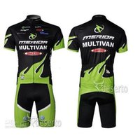 Wholesale Bicyle Shorts - new style Merida Team Cycling Jersey Bib Set Hot Sale Outdoor Bicyle Wearing Cycling Jersey Clothes Top And Tight Bib Shorts