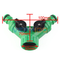 Wholesale Hose Tap Connector - Garden Hose Pipe Tube Splitter 2 Way Connector Y Adaptor Tap Quick Turn Off Tool order<$18no track