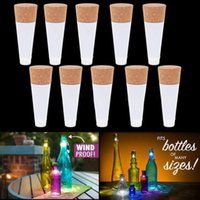 Wholesale Plastic Wine Cork Stoppers - Magic Cork Shaped Rechargeable Wine Bottle USB Night light Cork Stopper Cap Lamp Creative Tomantic Cork Lights Atmosphere Lights