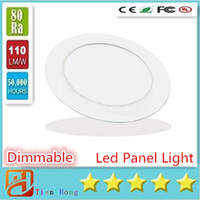 Wholesale Driver Dimmable 3w - Dimmable Round Led Panel Light SMD 2835 3W 9W 12W 15W 18W 21W 25W 110-240V Led Ceiling Recessed down light Led downlight + driver