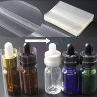 Wholesale online bottle - Thick Clear PVC Shrink seals for 10ml 15ml 20ml 30ml Glass e-liquid dropper Bottles high quality cheap Shrink wrap foil online wholesale
