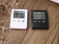 relógios magnéticos venda por atacado-Quadrado LCD Digital Timer De Cozinha Temporizador De Cozinha Despertador Relógio Despertador Temporizador Digital Temporizador de Cozinha Temporizador