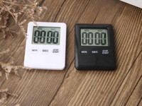 Wholesale lcd table clock resale online - Square LCD Digital Kitchen Timer Cooking Timer Alarm Clock Magnet Despertador Digital Table Clock Temporizador