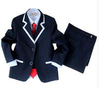 Wholesale spring boy pictures resale online - The boy dress suits spring Children suit School performance dress The flower girl dress boy s suit jacket pants tie