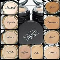 Wholesale Whitening Creme - 2015 Mineral Touch Cream Foundation Pressed Powder Fond DE TEINT CREME 0.46OZ 13g Comes in 10 Shades.