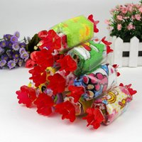 Wholesale Towel Favor For Wedding - Candy Shape Towel Practical Lovely Animals Pattern Washcloth Multi Colors Mini Facecloth For Wedding Favor Gift 0 88sg B