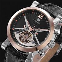 Wholesale Jaragar Stainless Steel Mechanical Watch - Orologio Uomo JARAGAR Tourbillion Auto Mechanical Watch Mens Watches Top Brand Luxury Atmos Clock Montre Hombre Reloj Relojes