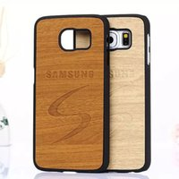 Wholesale Covers For Galaxy S4 Wood - High quality wood pattern Cases For Samsung GALAXY S6 Edge Hard PC Phone protective back cover For s3 s4 s5 s6 s6edge note 5 4 3
