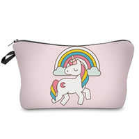ingrosso stampa portatile-DAOXI 3D Stampa Emoji Unicorn Portable Large Cosmetic Bag Storage Donna per trucco da viaggio Necessaries
