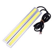 Wholesale Drive Plate - 2 Pcs Bright White COB Car LED Lights DRL Fog Driving Lamp Waterproof 12V VE985 W0.5 SYSR