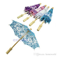 Wholesale Party Lace Parasol Umbrellas - Hot Selling New Bridal Embroidered Lace Parasol Wedding Party Decoration Umbrella Free Shipping