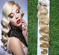 Wholesale Nano Ring Hair Extensions Indian - Hot sale 60# Micro link Nano Loop Ring Human Hair Extensions 100beads+ Grade 6A Unprocessed Indian Remy Hair Body Wave STOCK