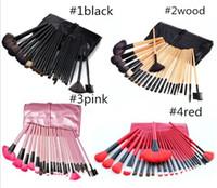 Wholesale 24 Pcs Makeup Brushes - New Professional 24 pcs Makeup Brushes Set eyebrow eyeshadow blush brushes Make-up Comestic DHL Free Shipping