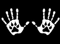 Wholesale Dog Door For Window - HAND PRINT DOG PAW VINYL for Car Window DECALS STICKERS for Car SUV or Laptop Decal