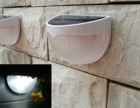 Wholesale Hot Cover 12v - 2017 hot 6 LEDs Sensor Solar Powered Light Outdoor Lamp LED Wall Light Garden Lamp ABS+PC Cover Color Package Home Stair Waterproof Bulb