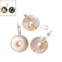 Wholesale Earings Sales - Hot Sales New Design NOOSA Rose Gold Color Round DIY Snap Button Earings can Match Different Unique Snap Style by Yourself