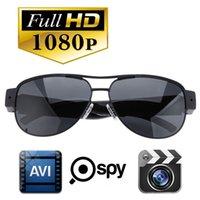 Wholesale Spy Cameras Glasses - 5pcs lot HD 1920x1080p Hidden Spy Camera Sunglasses Glasses Eyewear Video Recorder with Audio Mini DVR free DHL