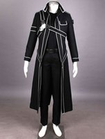 All'ingrosso-2016 CALDO Nuovo Sword Art Online Cos Kirigaya Kazuto cosplay Uniform Dress Cosplay Kirito vestito cosplay