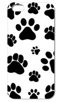Wholesale Iphone Back 4s Style - 1PC Dog Footprints Dogpaws style Clear Hard Back Cover Case for Iphone 4 4S 5 5S 5C 6 PLUS