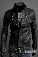 Wholesale Motorcycle Sheepskin Jackets Men - Fall-Factory Men's Genuine Leather Jacket For Men Real Matte Goat Skin Sheepskin Fashion Brand Black Motorcycle Biker Male Coat ZH031