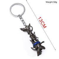 Wholesale League Legends Necklace - free shipping Jinx Necklace Keychain League of Shark Gun Legends weapons keychains Necklace Pendant