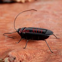 Wholesale Solar Power Black Cockroach Bug - New toy Kids Solar Toys Power Energy Solar Cockroach 6 Legs Black Children Insect Bug Teaching Fun Gadget Toy Gift For Kids