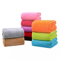 Wholesale Puppy Bedding - Solid Color Dog Blankets Flannel Puppy Bed Blankets Soft Warm Pets Blankets Sleeping Cushion Rest Mat Dog Supplies 12 Colors YFA176