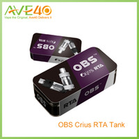 Wholesale Newest Electronic Cigarette Atomizer - Original OBS Crius RTA Newest Verious Electronic Cigarettes Vaporizer Tank Top Side Fill Easy Rebuildable Atomizer VS T-VCT Retail