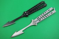 Wholesale Swing Back - High quality Bend Thrown knife stab in the back 3 colors Free-swinging Knife Camping hunting wild gift knife free shipping 1 pcs