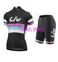 Wholesale Liv Giant - Wholesale-2015 High quality Giant liv lady short sleeve cycling jersey Simple casual cycling jersey and short pants woman cycling clothes