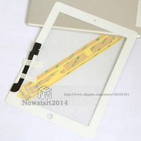Wholesale Ipad4 Digitizer - NEW touch screen For Apple ipad 3 4 ipad3 ipad4 touch digitizer screen glass replacement 1piece free shipping