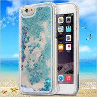 Wholesale Iphone5 Cover Case Crystal - Dynamic Liquid Glitter Sand Quicksand Star For iphone 6 case 4.7'' Crystal Clear phone Back Cover coque For iphone5 5s 6 6s Plus case