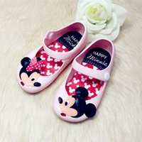 Gros-Fashion Minnie Cartoon Cute Mickey bébé Jelly Shoes Toddler Filles souples Princesse Sole Sandales