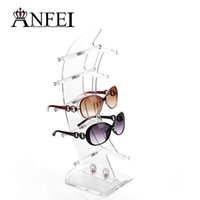 Wholesale Sunglasses Rack Displays - 2016 Hot sell New 5 pairs glasses display rack Sunglasses Glasses Plastic Frame Eyeglasses Display Show Stand Holder Removable Glasses