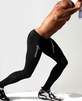 Wholesale Professional Workout - Wholesale-Professional quick-drying BreathableMens Compression Leggings Workout Crossfit Pants GYM Weight Lifting Running Tights Trousers